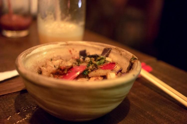 Nosso pratos no Mongolian Grill