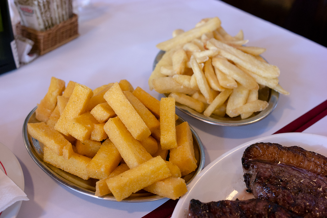 Polenta e Batatas Fritas