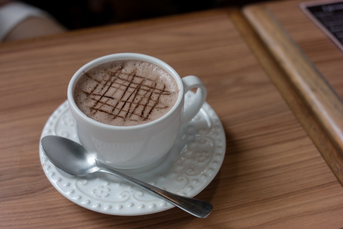chocolate quente belga